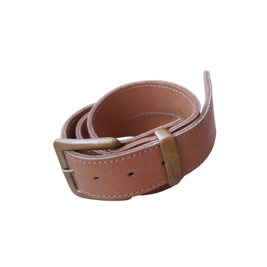 Belt with Buckle & Brass Loop